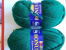 Hayfield Bonus DK yarn, Bottle Green, lot of 2 (306 yds ea)
