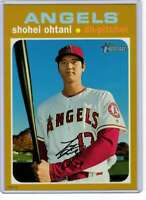 Shohei Ohtani 2020 Topps Heritage 5x7 Gold #433 /10 Angels