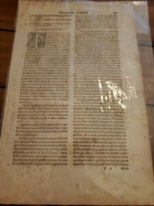 16TH CENTURY 1574 BOOK LEAF CONSILIORUM DOMINI GUIDONIS PAPAE DOCTORIS