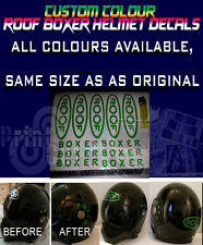 Roof Boxer Helmet Stickers/Decals Available In all Colours