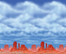 WILD West Deserto SCENA SETTER CAMERA ROTOLO Red Rock CIELO