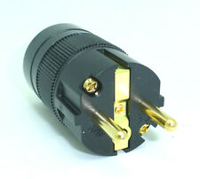 Wattgate 360i-BLK Schuko Black Power Male Plug  DIY Power Cord