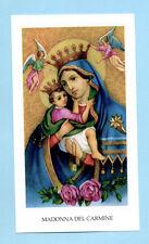 SANTINO  MADONNA del CARMINE  IMAGE PIEUSE - HOLY CARD SANTINI