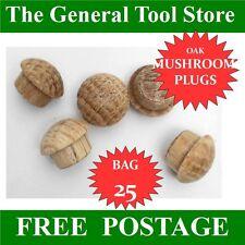 10 Mm Solid Oak Mushroom Head Wooden Plugs for Covering Screw Heads Etc