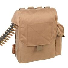 TAS Tan LMG/GPMG 200RD LINK MOLLE WEBBING POUCH AIRSOFT, LINK POUCH