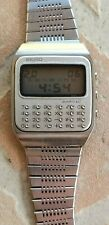 Rare SEIKO C153-5007 calculator Japan LCD vintage watch acier steel NR
