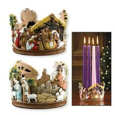 Advent Nativity Candle Holder