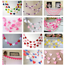 1m Love Heart Paper Garland Strings Wedding Baby Shower Party Hanging Decoration
