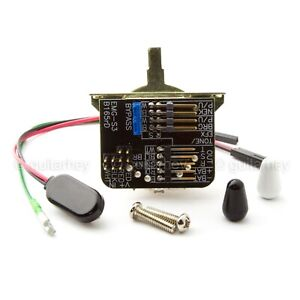 NEW EMG 3 Position STRAT Switch SOLDERLESS 3 WAY for Active Pickups w/ Hardware
