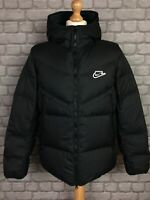 NIKE MENS BLACK DOWN FILL WINDRUNNER SHIELD PADDED JACKET COAT RRP £160 T