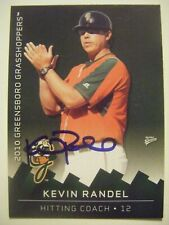 KEVIN RANDEL signed 2010 GREENSBORO baseball card AUTO LONG BEACH STATE ANAHEIM