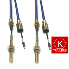 Pair of Trailer Brake Cables - 2130mm - KNOTT Style - Ifor Williams P0147