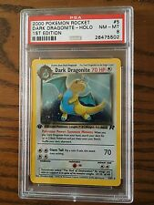 Dark Dragonite 5/82 Team Rocket Set Holo Rare PSA 8 1st Edition Error Pokémon Ca
