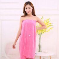 Lady Wearable Bath Towel Fashion Microfiber Absorbent Wrap Chest Sauna Clothes