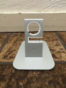 Twelve South HiRise Stand Silver Metal Charging Dock for Apple Watch