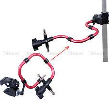 Super Strong Klammer + Support Arm Kameraschiene Blitzhalter für Lampen Stativ