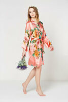 Blossom silk  Bridesmaid gowns wedding parties kimono Bride maternity robes!
