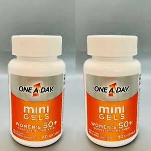 One A Day Mini Gels Women's 50+ Complete Multivitamin 80 Softgels 2PK Exp 2/22+