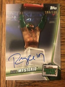 2019 WWE Money In The Bank Rey Mysterio Auto Autograph Signed Card Rare /199