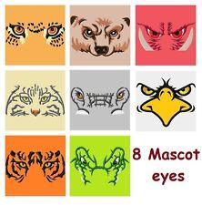 8 Football Mascot Eyes Embroidery Designs Tiger Gator Razorback Jaguar Eagles