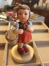 SCHMID 1984  Ornament By Bertha Hummel Girl With Basket FIGURINE 4.25 Inches