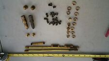 6LL89 ASSORTED BRASS HARDWARE, 13 OZ OF METAL, GOOD CONDITION