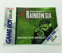Tom Clancy's Rainbow Six Nintendo Game Boy Color Instruction Manual Book Only