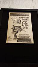 Valley Of The Dolls Rare Original 1968 20th Century Fox Promo Poster Ad Framed!