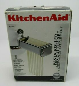 KitchenAid KPRA 3-Piece Pasta Roller Fettuccine Spaghetti Cutter Set In Box