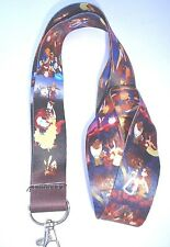BEAUTY AND THE BEAST PRINTED LANYARD ID HOLDER WOMENS GIRLS BELLE CHIP THE CUP