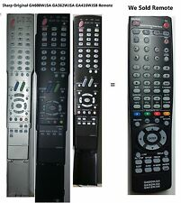 "SHARP AQUOS GA416WJSB Replace REMOTE for LCD TV ""MINT"" LC40C37U LC40C45U LC60C46"