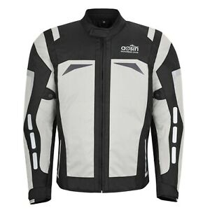 NEW Mens Motorcycle Waterproof Cordura Textile Jacket Motorbike CE Armours