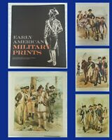 RARE 4 Vintage Early American Military War Lithograph Prints - History