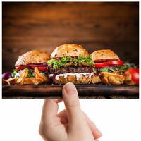 "Burger Cheesburger Fast Food Small Photograph 6"" x 4"" Art Print Photo Gift #2653"