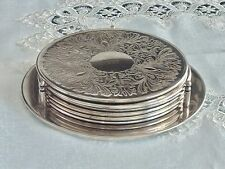 MAGNIFICENT ELEGANT  VINTAGE ETCHED  SILVERPLATED PLACE MATS FOR 6 STRACHAN ?