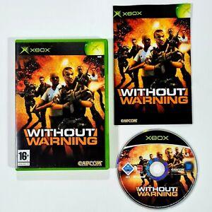 Microsoft Xbox Spiel WITHOUT WARNING Capcom/Shooter/Antiterror/Squad/Multiplayer