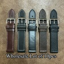 WHOLESALE Lot 10pcs Military Style Leather Watch Strap Band Size 20/22mm (H-5)