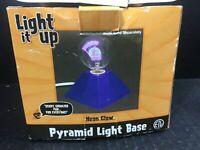 Halloween Light Decor Neon Glow Pyramid Light Base (bulb sold seperatly)