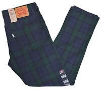 Levis Jeans 502 Men's $69.50 Regular Taper Plaid Pants Choose Size