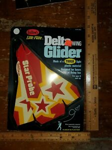 Vintage Gullow's Lite Flite Delta Wing Glider Mint in Package New/Old Stock