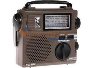 New Tecsun GREEN-88 Self-Powered Emergency Hand Crank Radio Receiver GR-88P