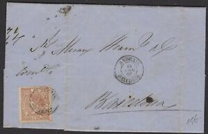 Espagne: Pli de 1868 en avec timbre 50 Mil de Esc Oblt petit CàDate ANDRAIS