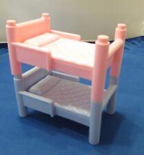 Playskool Dollhouse Beds Bunk Pink & Blue Doll House