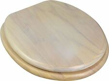 Wooden Bathroom Toilet Seat. Light White Pine. Fixings Included