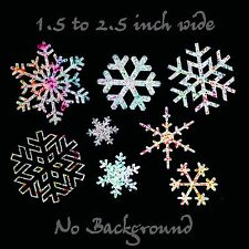 Snowflakes Decal 8 Pack Glitter Chrome Vinyl Snowflake Stickers