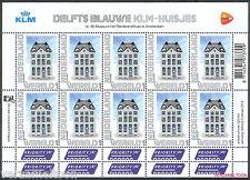 NVPH V 2899  PERSOONLIJKE POSTZEGELS 2012: DELFTS BLAUW KLM-HUISJES WERELD vel