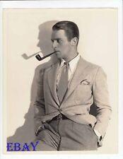 Douglas Fairbanks Jr. sexy w/pipe VINTAGE Photo