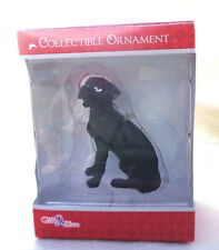 Gift 2 Give Collectible Black Lab w/ Red Santa Hat Christmas Ornament New NIB