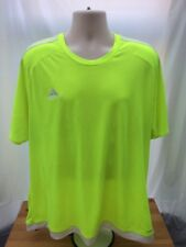 Mens ADIDAS Climalite HI VIZ Running Exercise Gym T-shirt Size XL FORHIM A7