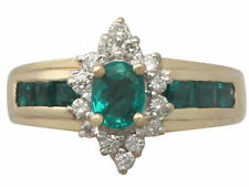 Emerald Unbranded Yellow Gold Natural Fine Gemstone Rings
